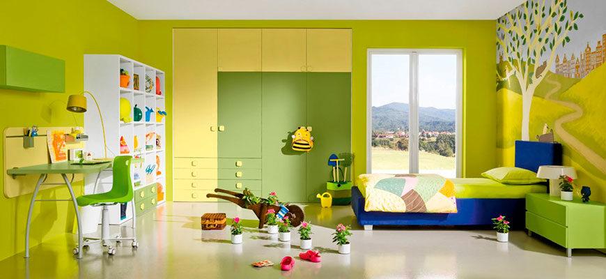 Интерьер детской комнаты - цветовая гамма для мальчика или девочки