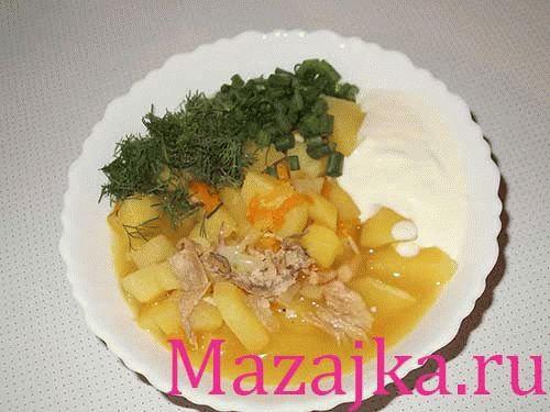 Картошка тушеная с курицей рецепт