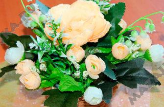 Как сделать цветочную корзинку